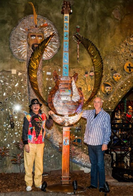 Carlos Santana and Paul Reed Smith