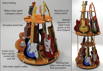 Guitar Storage Solutions - Carousel