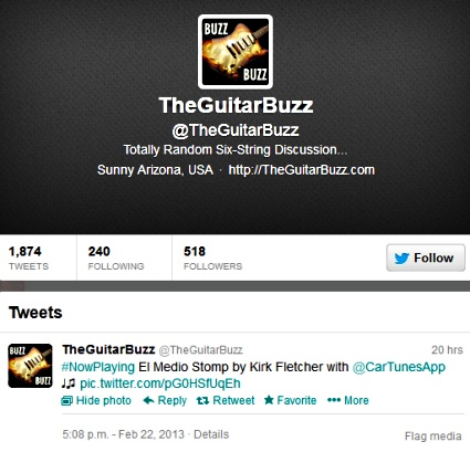 Twitter - TheGuitarBuzz - Kirk Fletcher
