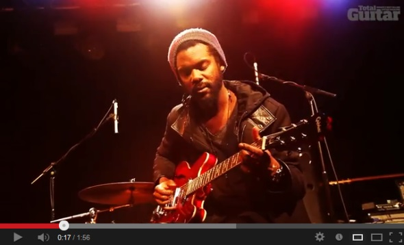 Gary Clark Jr Plays the Blues for Total Guitar Magazine
